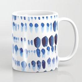 Indigo Watercolour Paint Splodges Coffee Mug