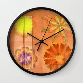 Internarial Concord Flowers  ID:16165-011657-19151 Wall Clock
