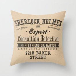 Sherlock Holmes -Consulting Detective- Throw Pillow