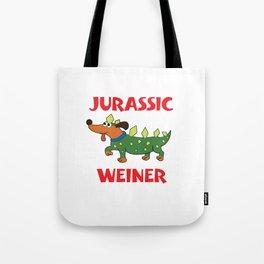 Funny Jurassic Weiner Dog Dinosaur Dog Tote Bag