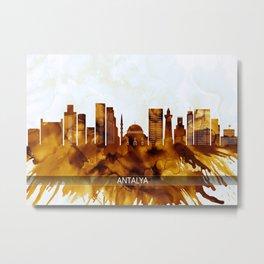 Antalya Turkey Skyline Metal Print
