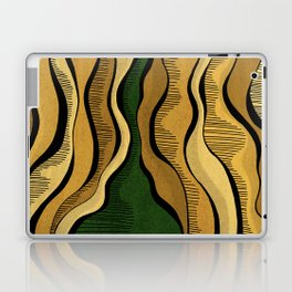 Golden Waves with Interrupting Green Laptop & iPad Skin