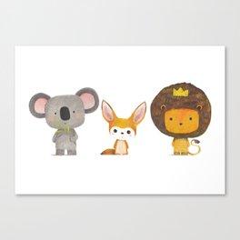 Koala, Fennec & Mr.Lion Canvas Print