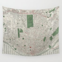 Vintage Map of St. Louis Missouri (1921) Wall Tapestry