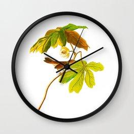 Swamp Sparrow Wall Clock
