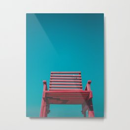 Red Chair in the Sky Metal Print