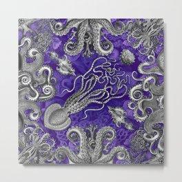 The Kraken (Purple, Square) Metal Print