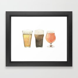 The Three Beers Framed Art Print