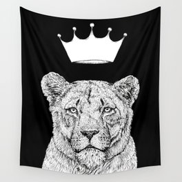 Lion Queen Wall Tapestry