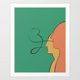 He, She: United // Illustration Art Print