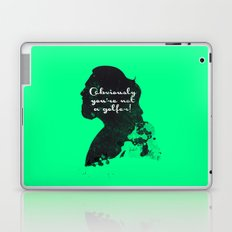 Not a golfer! – The Big Lebowski Silhouette Quote Laptop & iPad Skin