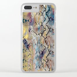 Luxury Snake Print Clear iPhone Case