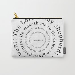 Psalms 23: The Lord is my shepherd Carry-All Pouch