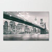 brooklyn bridge Canvas Prints featuring Brooklyn Bridge  by Vivienne Gucwa