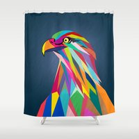 eagle Shower Curtains featuring Eagle by mark ashkenazi