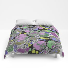Crazy Paving - Abstract, textured, pastel coloured artwork Comforters