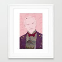 budapest hotel Framed Art Prints featuring The Grand Budapest Hotel II by Itxaso Beistegui Illustrations