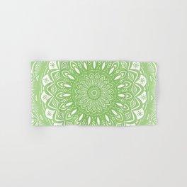Light Lime Green Mandala Simple Minimal Minimalistic Hand & Bath Towel