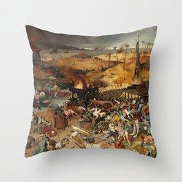 Bruegel the Elder The Triumph of Death Throw Pillow