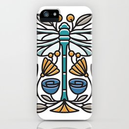 Dragonfly tile iPhone Case