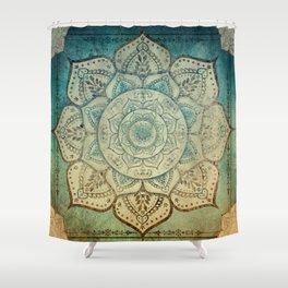 Faded Bohemian Mandala Shower Curtain