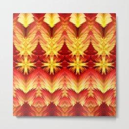Emergence of Flame Mandala Metal Print