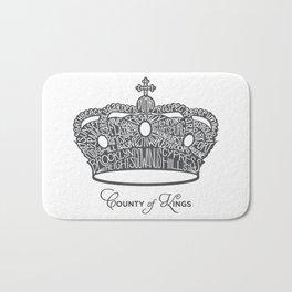 County of Kings   Brooklyn NYC Crown (GREY) Bath Mat
