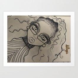 Afro Latina Art Print
