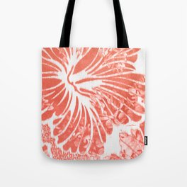 Winter Aloha in Coral Tote Bag
