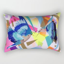 Geo Fly Birds Rectangular Pillow