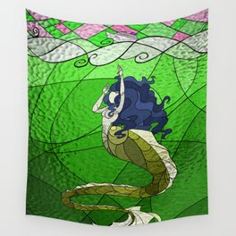 Primeval Mermaid (green) Wall Tapestry