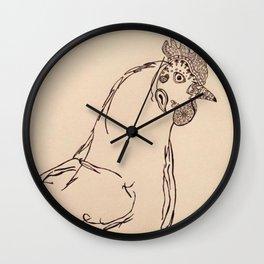 Ornamental Hen Wall Clock