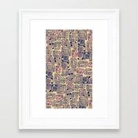 socks Framed Art Prints featuring Socks by Sara Mechael