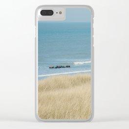 Sea ride Clear iPhone Case