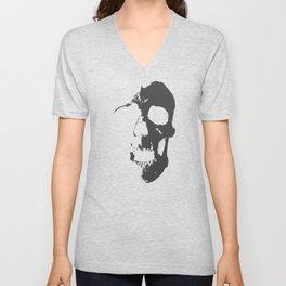 Skull - Grey Unisex V-Neck