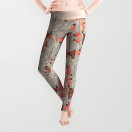 Monarch garden 001 Leggings