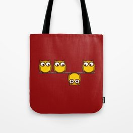 A whole new perspective for the owl Tote Bag