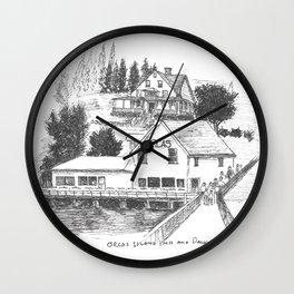 Orcas Island Wall Clock