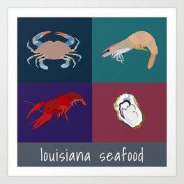 louisiana seafood Art Print