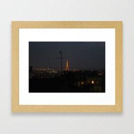 Paris in the night. Framed Art Print