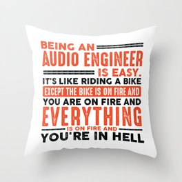 Being a Sous Chef Is Easy Shirt Everything On Fire Throw Pillow