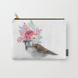 Boho Chic wild bird With Flower Crown Carry-All Pouch