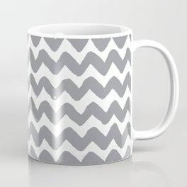 Grey Brushstroke Chevron Pattern Coffee Mug