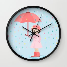 AFE Let it Rain Wall Clock