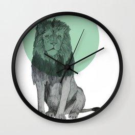 sitting lion Wall Clock