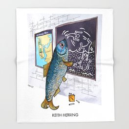 Keith Herring Throw Blanket