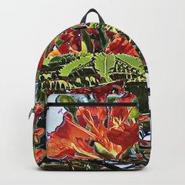 Royal Poinciana Tree Full Bloom Backpack