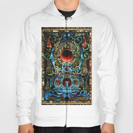 """John La Farge """" Antique Stained Glass of Jewels & Circles"""" window 1880 Hoody"""