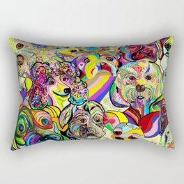 Dogs, DOGS, DOGS!! Rectangular Pillow