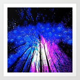 Stars and Trees Art Print